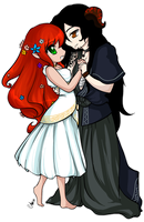 Persephone and Hades by Amulet-Maru