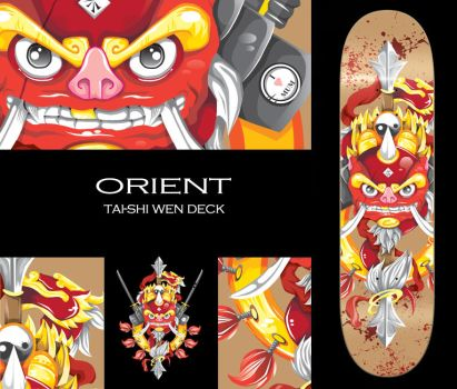 Skate Deck- Orient Design by ZhioN360