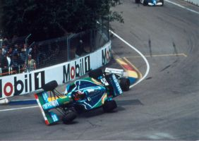 Michael Schumacher | Damon Hill (Australia 1994) by F1-history