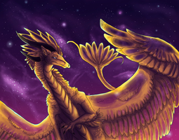 Golden Space Chicken by Nairo-Ryu