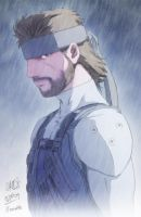 Chamba Sketch - Solid Snake by marcotte