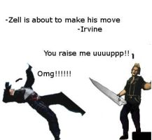 zell is about to make his move by Phildragonbleu