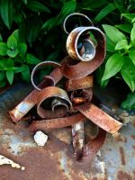 Rusty Curly Thing by Baq-Stock