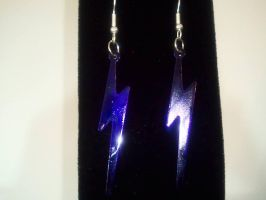 Lightning Bolt Earrings by MysticalMayhemJewel
