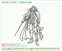 How to draw Alucard Part 2 by SketchHeroes