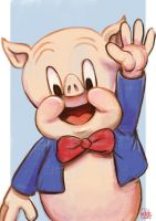 Daily Sketches Porky Pig by fedde