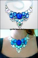 Blue Aurora Borealis Necklace by Natalie526