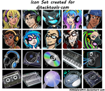 Dj Tech Tools Icons by NikkiWardArt