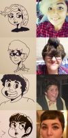 Steven Universe-ified Selfportraits by GingerBaribuu