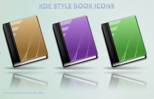 KDE 4 style book icons by tonev
