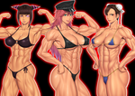 Street Fighter muscle girls by Ero-Chong