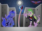 Spike, Luna, and the Crimson Crescent by kashchung