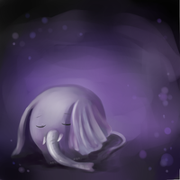 Little elephant want to sleep by Connielin718