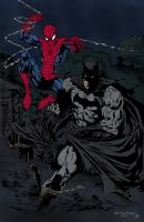 Spider-Man and Batman by Rey Villegas by edCOM02