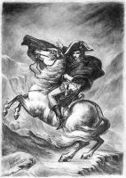 Napoleon crossing the Alps by Klint