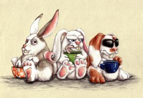 Disgruntled Bunnies by Quilsnap
