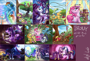 Brony Con print set by atryl