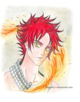 Natsu, fire heart (new pencil colors!) by Herena21