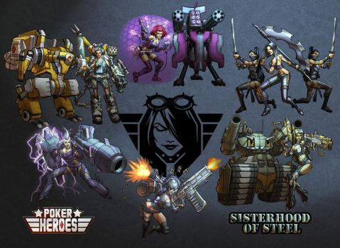 POKER HEROES: Sisters of Steel composite by billydallaspatton