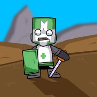 Green Castle Crasher Knight by 2Stickman2