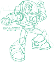 Sketch - Buzz Lightyear by kevinxnelms