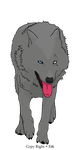 Wolf Lineart Scott colored by sweetsabee3540