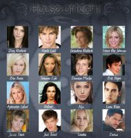 House of Night Cast by xx1wingedangel