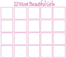 20 Most Beautiful Girls by jacobyel