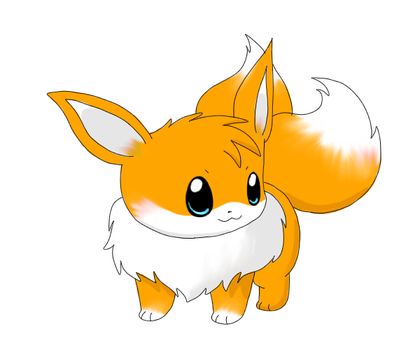 Tails the Eevee by Karrotcakes