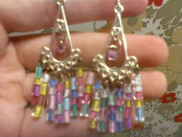 Multi Color and Charm Earrings by EllasDesigns