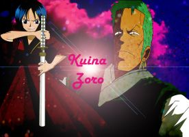 Kuina And Zoro Historico by redfiedsawnroberts