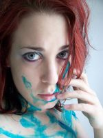 Blue Paint XXI by fetishfaerie-stock