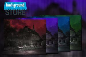 Free Dark Monastery Background by BackgroundStore