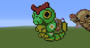Minecraft Pokemon #010:  Caterpie by Sherio88