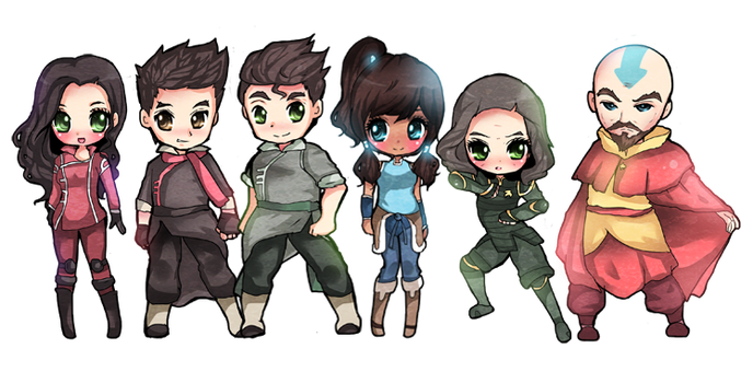 Chibi Legend of Korra by DarienDoodles