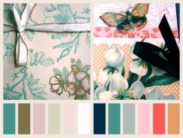 Flowers And Butterflies Palette by Nyanfood