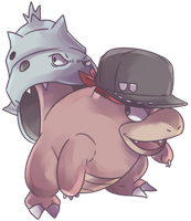 Custom Yadoran | Slowbro Commission by AutobotTesla