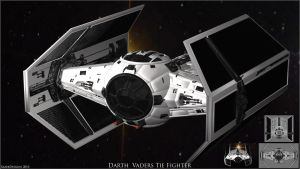Darth Vaders Tie Fighter by SiLeNtOwL