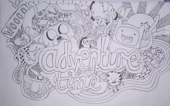 Adventure Time Doodle by fatma555