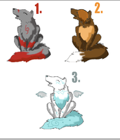 Wolf Adoptables closed by crystalleung7