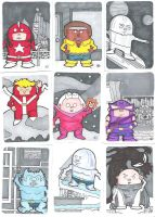Defenders Sketch Cards Pt2 by crpechonick