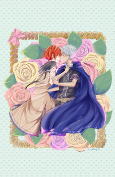 Shirayuki and Roses by luckydraws