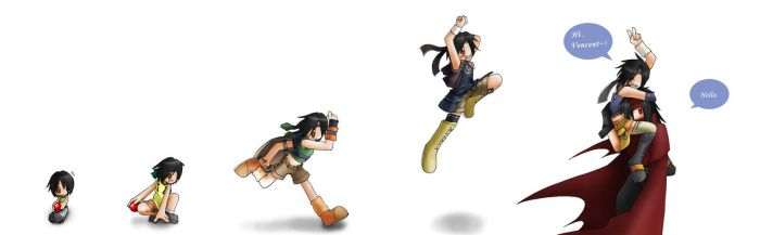 Evolution of Yuffie by Zennore