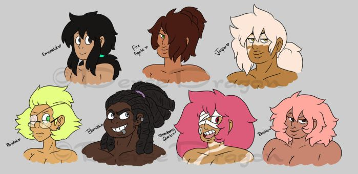 Human AU Gemsonas by DerseDragon