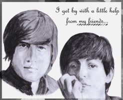 paul mccartney and john lennon by sasuke-girl-xoxo