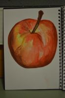 painting of an apple by ROBOT-S