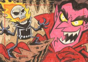 MGB: Ghost Rider Vs. Mephisto by thecheckeredman