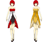 dress colour versions 1 by Mystic-darkness13