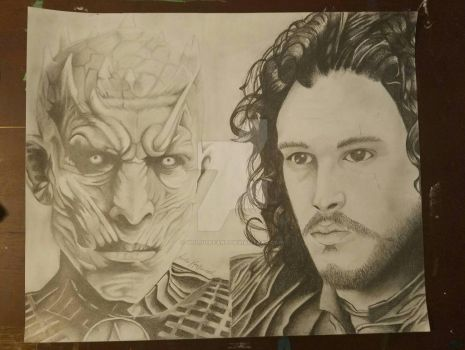 The Night's King and Jon Snow from Game of Thrones by yololifeart