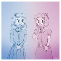 Matilda and Hortense McDuck by Loony-Lucy